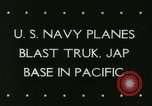 Image of American aircraft Truk Caroline Islands, 1944, second 6 stock footage video 65675067083