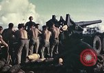 Image of M1A1 155mm gun Peleliu Palau Islands, 1944, second 11 stock footage video 65675067107