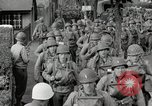 Image of U.S. Army Rangers preparing for the D-Day invasion in World War II Weymouth England, 1944, second 4 stock footage video 65675067146