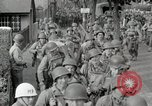 Image of U.S. Army Rangers preparing for the D-Day invasion in World War II Weymouth England, 1944, second 10 stock footage video 65675067146