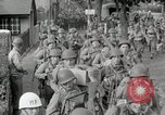 Image of U.S. Army Rangers preparing for the D-Day invasion in World War II Weymouth England, 1944, second 12 stock footage video 65675067146