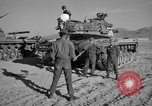 Image of armored combat training Mojave California USA, 1955, second 10 stock footage video 65675067161