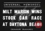 Image of car race Daytona Beach Florida USA, 1936, second 2 stock footage video 65675067246