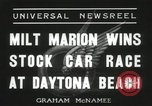 Image of car race Daytona Beach Florida USA, 1936, second 7 stock footage video 65675067246