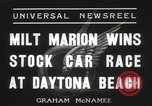 Image of car race Daytona Beach Florida USA, 1936, second 8 stock footage video 65675067246