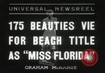 Image of Miss Florida beauty pageant Miami Florida USA, 1936, second 1 stock footage video 65675067251
