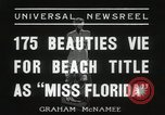 Image of Miss Florida beauty pageant Miami Florida USA, 1936, second 6 stock footage video 65675067251
