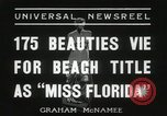 Image of Miss Florida beauty pageant Miami Florida USA, 1936, second 8 stock footage video 65675067251