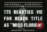 Image of Miss Florida beauty pageant Miami Florida USA, 1936, second 10 stock footage video 65675067251