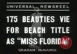 Image of Miss Florida beauty pageant Miami Florida USA, 1936, second 12 stock footage video 65675067251