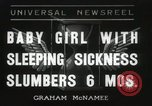 Image of sleeping sickness Erie Pennsylvania USA, 1936, second 1 stock footage video 65675067252
