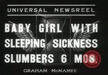 Image of sleeping sickness Erie Pennsylvania USA, 1936, second 4 stock footage video 65675067252