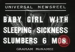 Image of sleeping sickness Erie Pennsylvania USA, 1936, second 5 stock footage video 65675067252