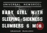 Image of sleeping sickness Erie Pennsylvania USA, 1936, second 6 stock footage video 65675067252