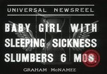 Image of sleeping sickness Erie Pennsylvania USA, 1936, second 7 stock footage video 65675067252