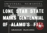 Image of 100th anniversary of the Alamo's fall San Antonio Texas USA, 1936, second 1 stock footage video 65675067256