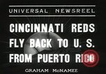 Image of Cincinnati Reds baseball team Miami Florida USA, 1936, second 9 stock footage video 65675067258
