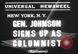 Image of General Johnson New York United States USA, 1935, second 2 stock footage video 65675067260