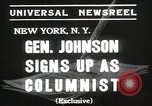 Image of General Johnson New York United States USA, 1935, second 3 stock footage video 65675067260