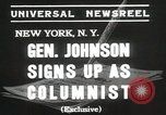 Image of General Johnson New York United States USA, 1935, second 6 stock footage video 65675067260
