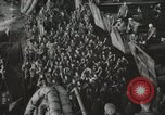 Image of Troop ships filled with infantry Pacific Theater, 1945, second 5 stock footage video 65675067285