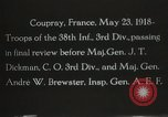 Image of 3rd Infantry Division Coupray France, 1918, second 3 stock footage video 65675067297