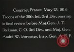Image of 3rd Infantry Division Coupray France, 1918, second 9 stock footage video 65675067297