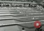 Image of swimming competition Winnipeg Canada, 1967, second 9 stock footage video 65675067385