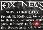 Image of Frank Billings Kellogg New York United States USA, 1925, second 1 stock footage video 65675067402