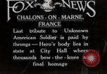 Image of homage to American soldier Chalons-en-Champagne France, 1925, second 1 stock footage video 65675067412