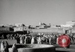 Image of Camels offered for sale at outdoor market in Marrakech Morocco North Africa, 1942, second 3 stock footage video 65675067433