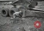 Image of U.S. artillerymen setting up 155mm long tom guns Anzio Italy, 1944, second 10 stock footage video 65675067456