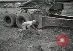 Image of U.S. artillerymen setting up 155mm long tom guns Anzio Italy, 1944, second 12 stock footage video 65675067456
