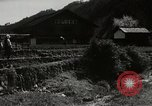 Image of Japanese farm Sugata Gifu Prefecture Japan, 1950, second 2 stock footage video 65675067530