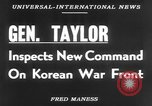 Image of Maxwell Davenport Taylor Korea, 1953, second 3 stock footage video 65675067638