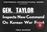Image of Maxwell Davenport Taylor Korea, 1953, second 4 stock footage video 65675067638