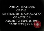 Image of matches of National Rifle Association Ohio United States USA, 1927, second 2 stock footage video 65675067673