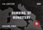 Image of Bombing of Monastery Cassino Italy, 1944, second 1 stock footage video 65675067747
