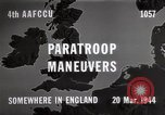Image of Paratroopers Maneuver England, 1944, second 6 stock footage video 65675067748