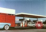 Image of gas station Philadelphia Pennsylvania USA, 1958, second 6 stock footage video 65675067782
