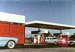 Image of gas station Philadelphia Pennsylvania USA, 1958, second 7 stock footage video 65675067782