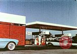 Image of gas station Philadelphia Pennsylvania USA, 1958, second 8 stock footage video 65675067782