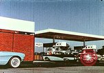 Image of gas station Philadelphia Pennsylvania USA, 1958, second 9 stock footage video 65675067782