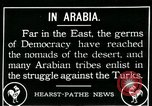 Image of Arabian troops during Arab Revolt Arabia, 1916, second 1 stock footage video 65675067802