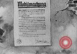 Image of Poster announcing Mobilization Berlin Germany, 1914, second 2 stock footage video 65675067821