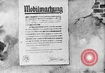 Image of Poster announcing Mobilization Berlin Germany, 1914, second 3 stock footage video 65675067821