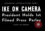 Image of Press conference Washington DC USA, 1955, second 3 stock footage video 65675067830