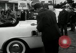 Image of Vice President Richard Nixon pumps gas for March of Dimes Washington DC USA, 1955, second 10 stock footage video 65675067831