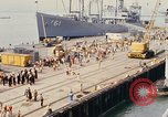 Image of American sailors San Francisco Bay California USA, 1968, second 2 stock footage video 65675067895