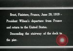 Image of Thomas Woodrow Wilson Brest France, 1936, second 4 stock footage video 65675067918